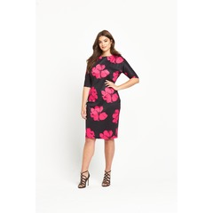 Ax Paris Curve Printed Scuba Dress