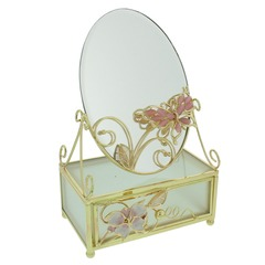 Butterfly Embellished Jewellery Box with  Mirror