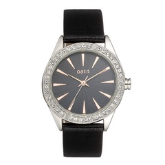 Oasis Crystal Set Bezel Watch B1194