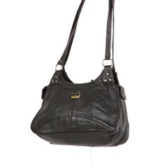 Nappa Leather Zip Compartment Handbag