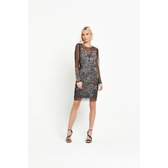 Miss Selfridge Mini Kim Long Sleeve Bodycon Dress