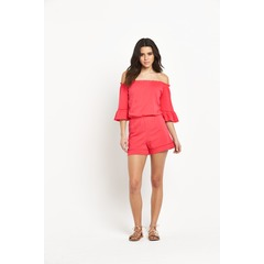 V by Very Off The  Shoulder Jersey Playsuit