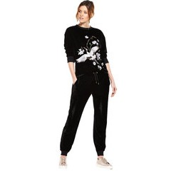 V By Very Embroidered Velour Sweater