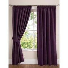 Faux Suede Eyelet Lined Curtains 229 x 274cm