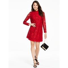 V By Very Long Sleeve Lace Swing Dress