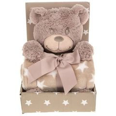 Cuddle Time Soft Baby Blanket Set - Teddy Bear