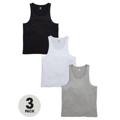 V by Very 3 Pack Nightwear Vests