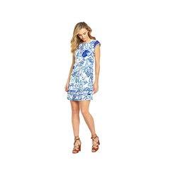V By Very Printed Sleeveless Linen Mini Dress