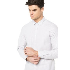 V By Very Long Sleeve Stripe Oxford Shirt