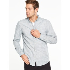 V by Very Long Sleeved Space Dyed Smart Shirt