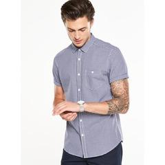 V by Very Short Sleeved Gingham Shirt