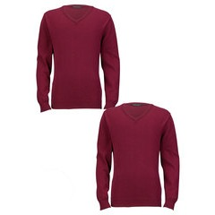 Top Class Pack Of Two Cotton Rich V-Neck Jumpers