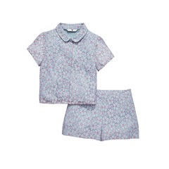V By Very Peter Pan Collar Lace Top & Shorts Set