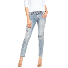V By Very Snow Wash Paint Splash Skinny Jeans