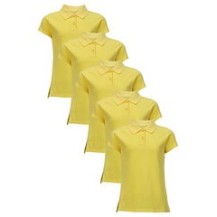 Top Class Girls Pack Of 5 Polo Tops