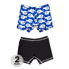 V By Very Pack of 2 Boys Cartoon Shark Trunks