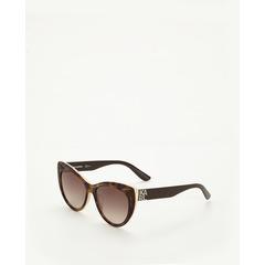 Karl Lagerfeld Catseye Sunglasses In Tortoiseshell