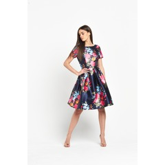 Chi Chi London Floral Print Scoop Back Midi Dress