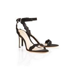 Loeffler Randall Amelia Leather Wavy Sandals