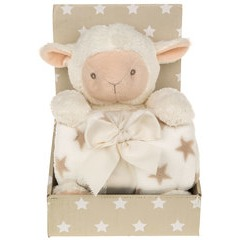 Cuddle Time Soft Baby Blanket Set - Sheep