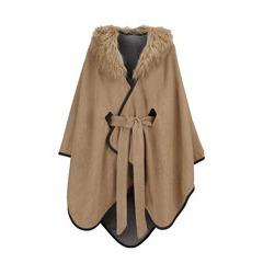 Oasis Reversable Belted Fur Collar Wrap