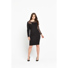 V By Very Zig Zag Lace Body Con Dress