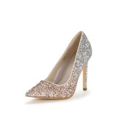 Shoe Box Pascale Point Graduated Glitter Court Shoes