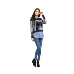 Oasis Stripe Chambray Shirt Tails Jumper