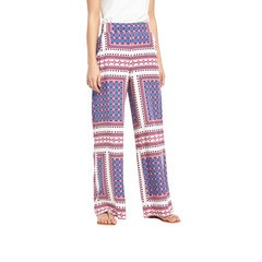 V By Very Printed Wide Leg Trousers