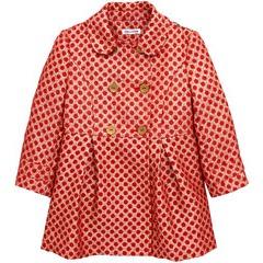 Ladybird Toddler Girls Gold Spot Jacquard Smart Coat