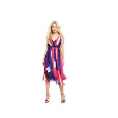 V By Very Colour Block Asymmetric Midi Dress