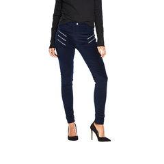 V By Very Multi Zip Velvet Biker Jeans