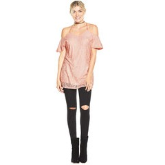 V By Very Lace Cold Shoulder Tunic