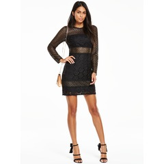 V By Very Lace Panel Bodycon Dress