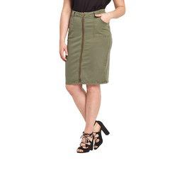 So Fabulous! Tie Waist Zip Front Denim Pencil Skirt