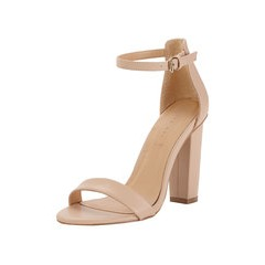 Shoe Box Daisy High Block Heeled Ankle Strap Sandals