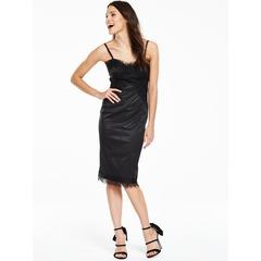 V By Very Satin Lace Trim Cami Dress
