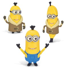 Minions Kevin 3 In 1 Dressup Action Figure