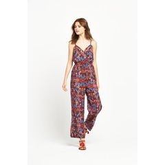 V by Very Printed Eyelet Jumpsuit