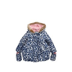 Ladybird Toddler Girls Wadded Animal Print Coat