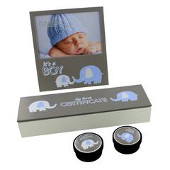 Blue Elephant Aluminium New Baby Set