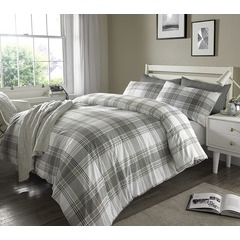 Check Duvet Set - Kingsize