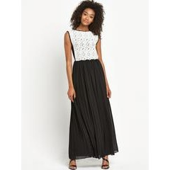Definitions Lace Pleated Maxi Dress