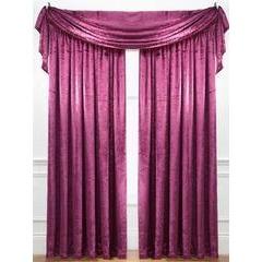 Laurence Llewelyn-Bowen Curtain Call Velvet-effect Pencil Pleat Curtains 109 x 137 cm