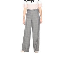 V By Very Check Belted Wide Leg Trousers