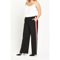 So Fabulous! Stripe Side Wide Leg Trousers