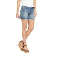 V By Very Eyelet & Lace Denim Shorts