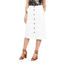 Warehouse Button Detail Midi Skirt