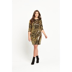 So Fabulous Animal Sequin Shift Dress