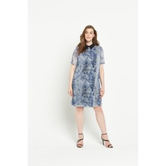 Lovedrobe Printed Collar Shift Dress